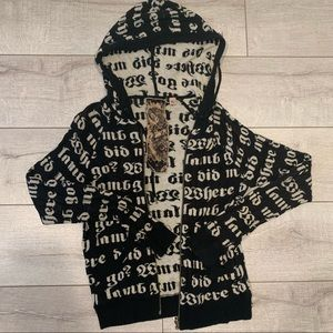 L.A.M.B. Zip up hooded sweater